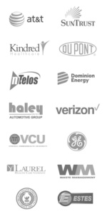 A list of clients that century construction has worked with. Including at&t, suntrust, dominion energy, and verizon.