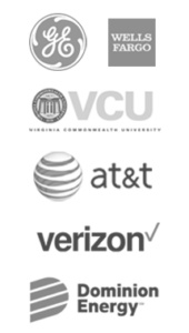 A list of clients century construction has worked with. Including wells fargo, vcu, at&t and verizon.